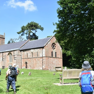 Tea break at Shrawley church